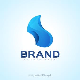 Abstraktes social media-logo mit farbverlauf