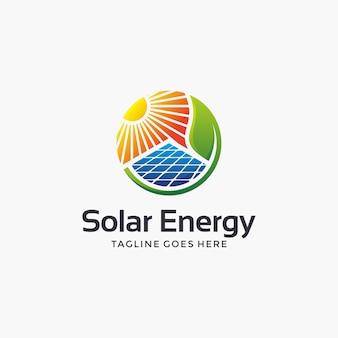 Abstraktes sonnenenergie-logo