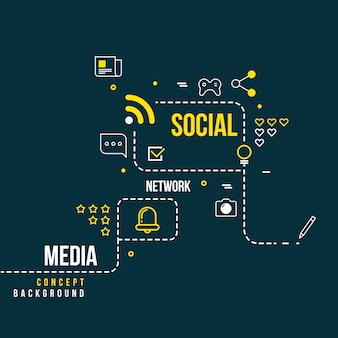 Abstraktes soziales community-netzwerk