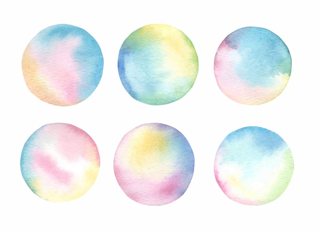 Abstraktes spritzenset des aquarells.