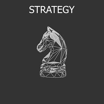Abstraktes strategie-schachkonzept