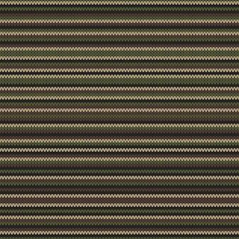 Abstraktes strickmuster in klassischen tarnfarben. nahtloser hintergrund