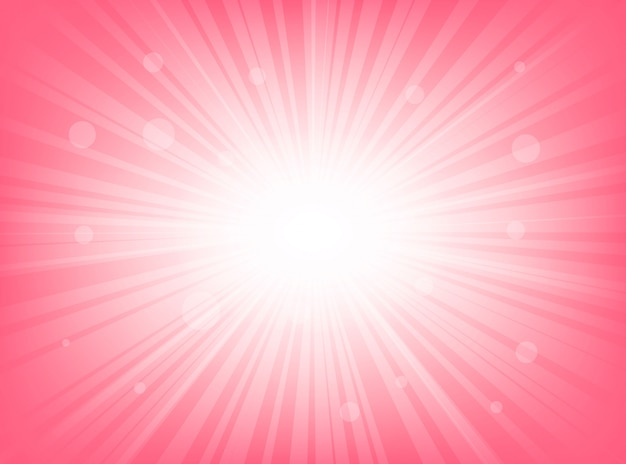 Abstraktes sunburst hellrosa mit radialen linienhintergründen