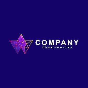 Abstraktes tech-farbverlauf-logo-design