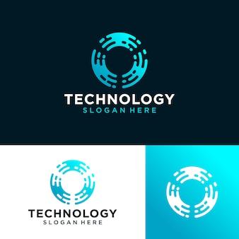 Abstraktes technologie-logo