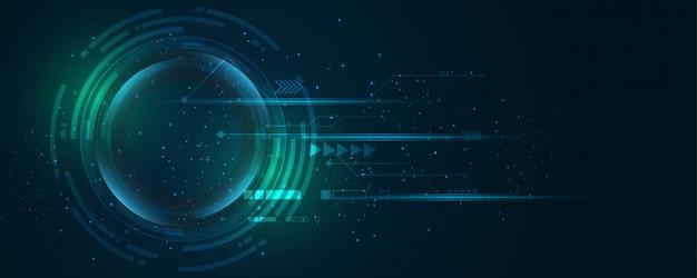 Abstraktes technologiehintergrund high-teches kommunikationskonzept