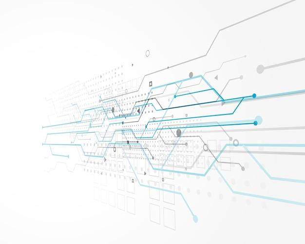 Abstraktes technologiekonzeptdesign mit maschendraht