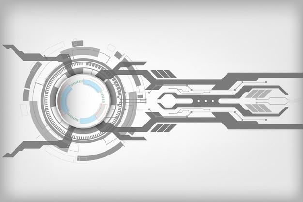 Abstraktes technologisches hintergrundkonzept mit verschiedenen technologieelementen