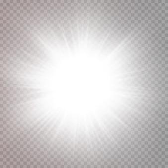 Abstraktes transparentes sonnenlicht spezielle linsenfackel lichteffektvektor unschärfe in bewegung glühen blendung