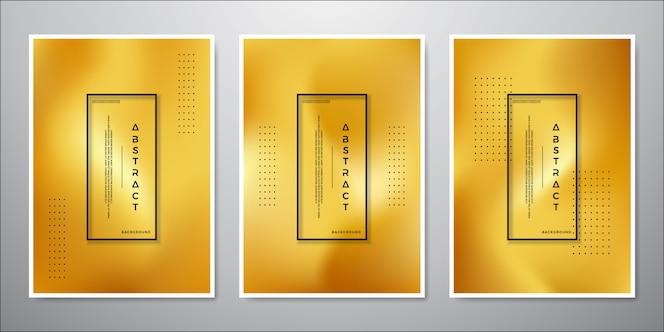 Abstraktes unbedeutendes Goldhintergrunddesign