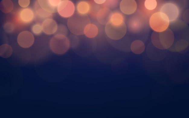 Abstraktes unschärfe-bokeh und linseneffekt auf dunklem purpur