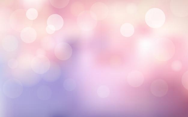 Abstraktes unschärfe-bokeh und linseneffekt auf rosa und violett