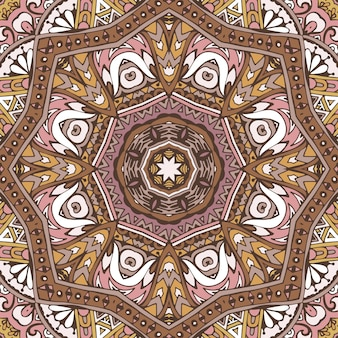 Abstraktes vintage abstraktes geometrisches ethnisches nahtloses muster dekorativ.