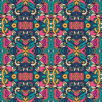 Abstraktes vintage abstraktes geometrisches ethnisches nahtloses muster dekorativ