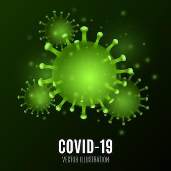 Abstraktes virus. 3d-koronamikrobe. medizinisches konzept. krankheitserreger. illustration
