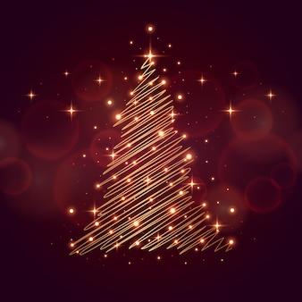Abstraktes weihnachtsbaumkonzept