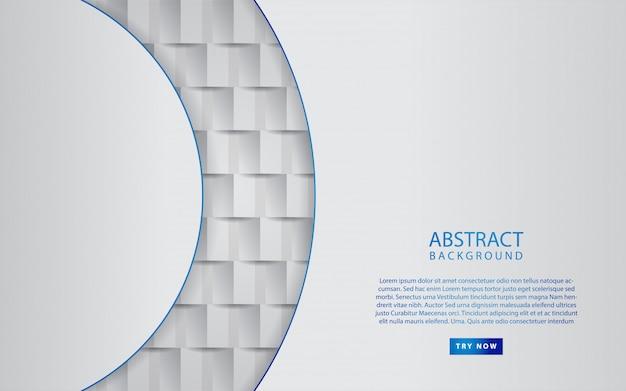 Abstraktes weißbuch formt hintergrund
