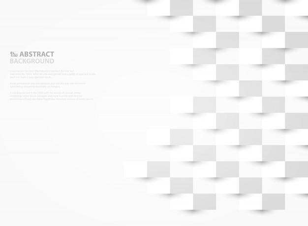 Abstraktes weißbuch schnitt hintergrund des geometrischen designs.