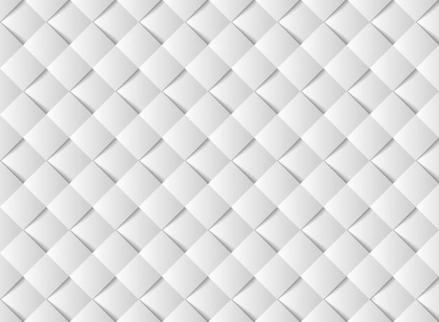Abstraktes weißbuch schnitt quadratisches musterdesign.