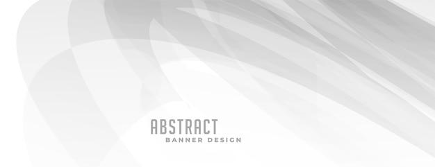 Abstraktes weißes banner mit grauen linien