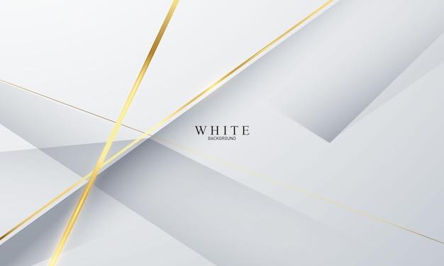 Abstraktes weißes goldhintergrundplakat mit dynamik. technologie-netzwerk vektor-illustration.