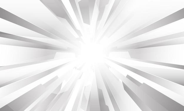 Abstraktes weißes graues geometrisches zoomdesign moderne futuristische hintergrundvektorillustration.