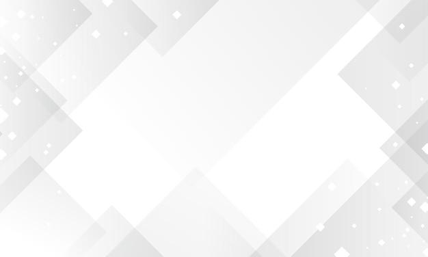 Abstraktes weißes hintergrunddesign von geometrischem mit digitaltechnikvektorillustration