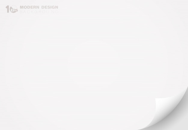 Abstraktes weißes papier mit flipdekorationsgrafiklinien-texturdesignhintergrund.