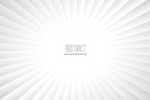 Abstraktes weißes strahlenhintergrunddesign