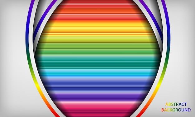 Abstraktes weißes und buntes regenbogenpapier formt hintergrund