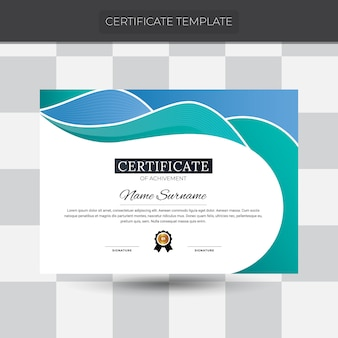Abstraktes zertifikat