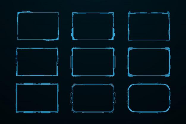 Abstraktes zukünftiges futuristisches schirmsystem hud ui gui virtuell
