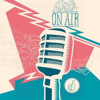 Abstraktion mit mikrofon