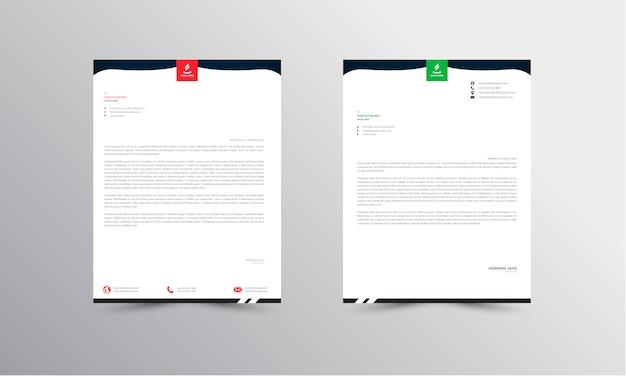 Abtract briefkopf design moderne business briefkopf design vorlage - vektor