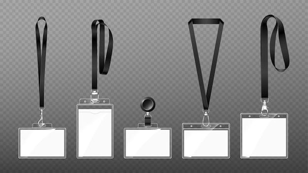 Abzeichen an schlüsselbändern mit karabinerverschluss oder haken