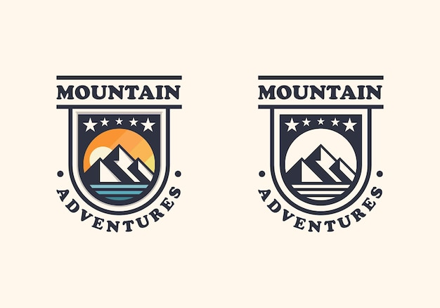 Abzeichen berg zwei version logo