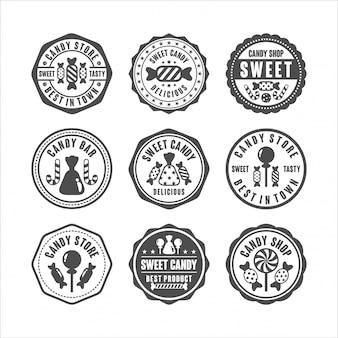 Abzeichen briefmarken süßwarenladen sammlung