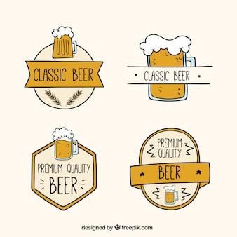 Abzeichen der biere in flaches design