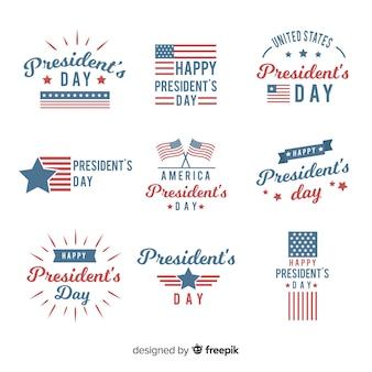 Abzeichen des präsidenten gesetzt