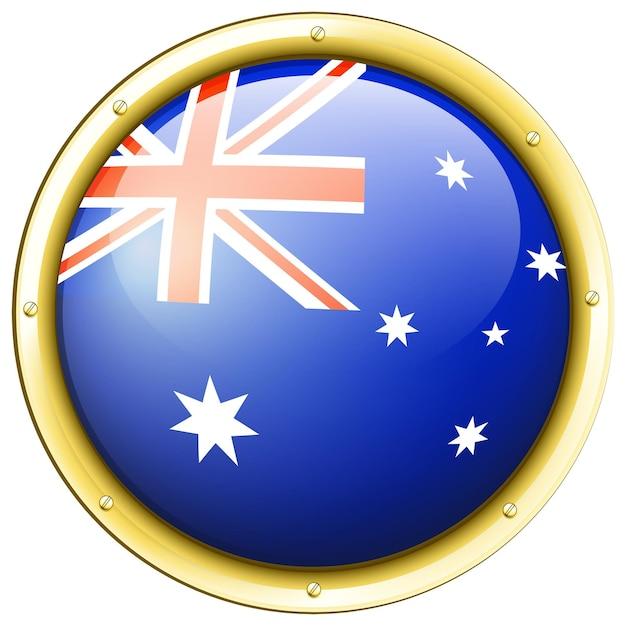 Abzeichen-design für australien-flagge