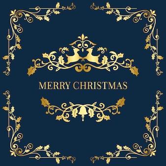Abzeichen-designvektor der frohen weihnachten