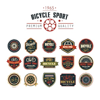 Abzeichen fahrradset