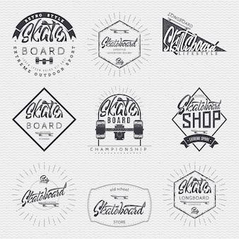 Abzeichen für skateboard-insignien