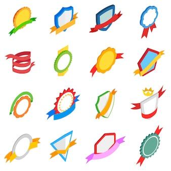 Abzeichen icons set