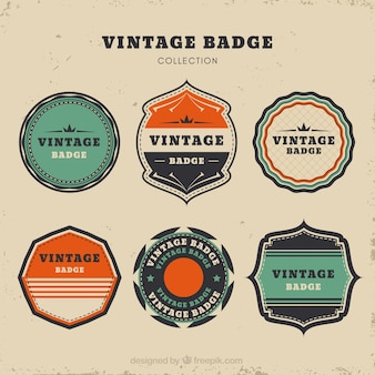 Abzeichen sammlung mit vintage-stil