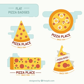 Abzeichen von leckeren pizzen pack