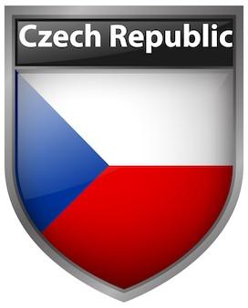 Abzeichendesign für die flagge der tschechischen republik