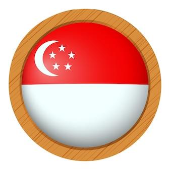 Abzeichendesign für die flagge von singapur