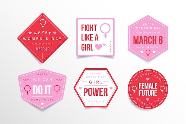 Abzeichensammlung der flachen designfrauen tages