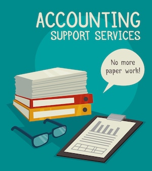 Accounting support services konzept